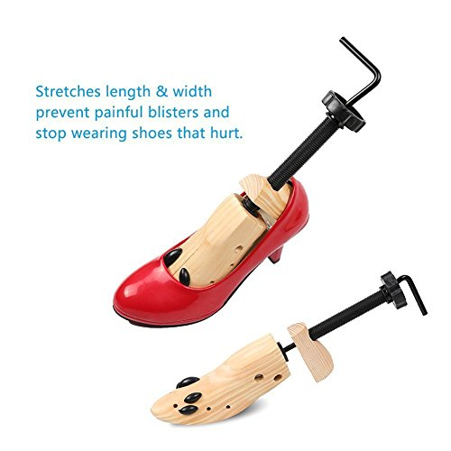 Zamango Pair of Premium Professional 2-way Cedar Shoe Trees Wooden Shoe Stretcher Shaper for Woman's Size 3.5--7 Stretches Length & Width(Small) by Zamango (Image #2)