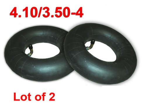 LOT OF 2 4.10//3.50-4 4.10x3.50-4 4.10-4 WHEEL TIRE INNER TUBE TR87 VALVE STEM IT35