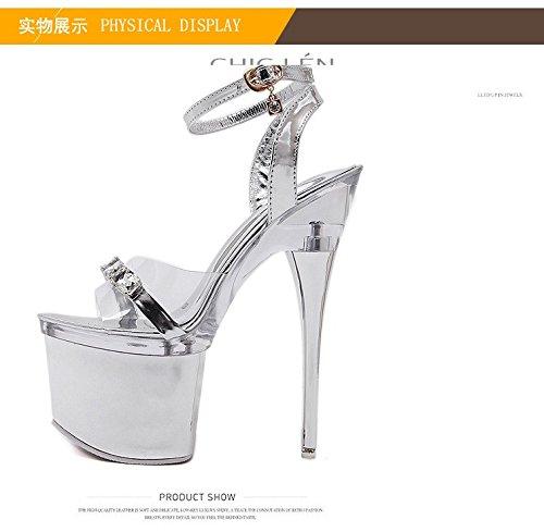 con transparentes de 18 sandalias palabra centimetros una XiaoGao una palabra centímetros 18 y qwAXnI4F