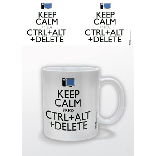 Keep Calm Pyramid International - Taza (cerámica), diseño con texto Press Ctrl + Alt + Delete