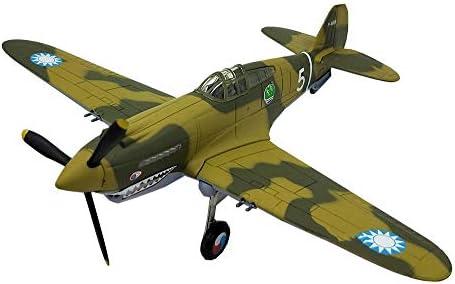1/72スケール戦闘機プラモデル、軍事中国1942カーチスP-40B戦闘機アダルトグッズやギフト、6.2Inch X5.3Inc