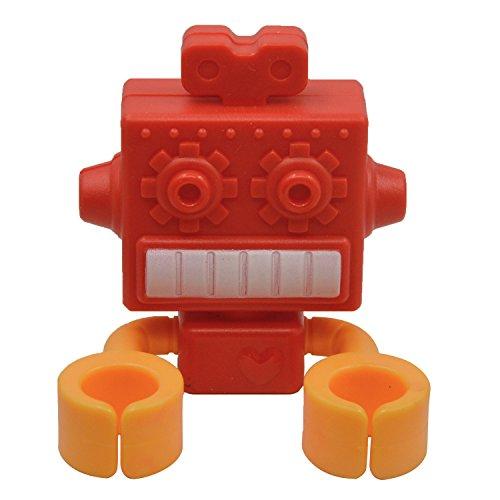 Gosear Multifuncional Silicona Ventosa Cartoon Robot Soporte de Cepillo de Dientes Rojo: Amazon.es: Hogar