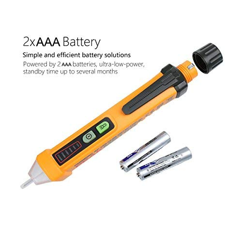 12-1000V AC Voltage Detector with Flashlight Function NAMEO Non-Contact Voltage Tester