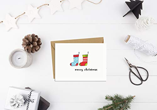 Holiday Card Boxed Set 24, Small Christmas Cards Bulk Cute Xmas Cards, Blank Greeting Cards with Envelopes and Sealed Stickers, Happy Holiday Note Cards 8 Assorted Designs Photo #3