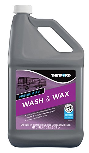 Premium RV Wash and Wax, Detergent and Wax for RVs / Boats / Trucks / Cars - 1 Gallon -  Thetford 32517