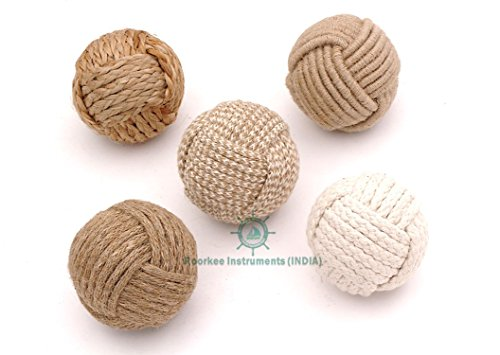 Diy Nautical Decor (Decorative Rope Balls-Vase Filler,Nautical Decor, House Ornament, Christmas Tree Garden Wedding Party Coffee Table Decoration,Craft DIY, Parrot, Place Card Holder, Wedding Decorations, Party)