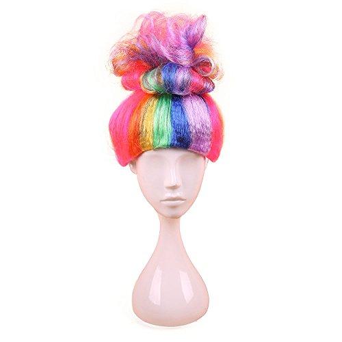 Longlove Cosplay Wig Halloween Wigs Children Fantasy Party Wig (Multi-Color) (Fantasy Wig Girl)