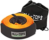 ALL-TOP Extreme Duty Nylon Recovery Strap - 4'' x 20' - Towing Snatch Strap (42,500 lbs) 100% Nylon and 22% Elongation with Bag