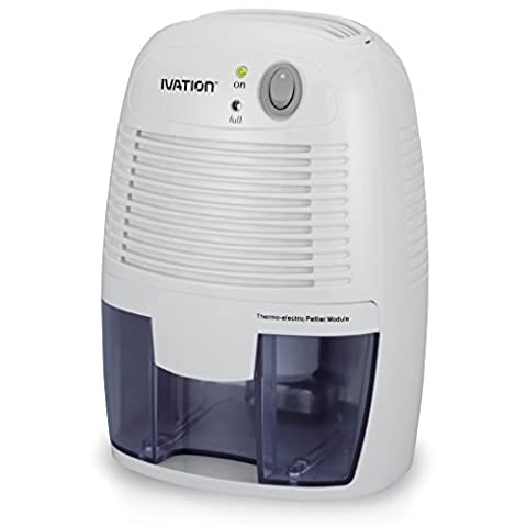 Ivation IVAGDM20 DehumMini Powerful Small-Size Thermo-Electric Dehumidifier for Smaller Room, Basement, Attic, Boats, RV's and Antique (Dehumidifiers)