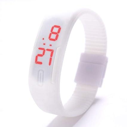 QIANGYUE Reloj De Pulsera De Silicona LED, Reloj De Fecha De La Pantalla Táctil Deportivo