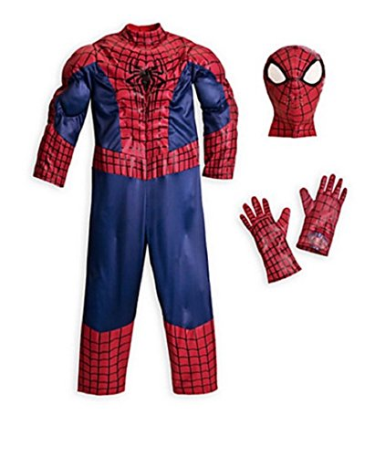 Disney - The Amazing Spider-man Deluxe Costume for Boys - Size 9/10 - (Amazing Spider Man 2 Costume Pattern)