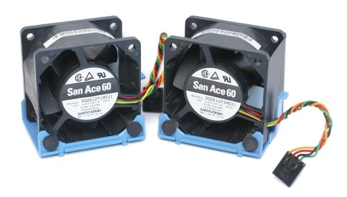 2-LOT Dell U8679 Computer Case Cooling Fan and Bracket Assembly, For Optiplex GX620, 745, 755, and SX280 Ultra