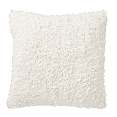 "Amazon Brand – Rivet Modern Faux Fur Decorative Throw Pillow, Soft and Luxurious, 20"" x 20"", Ivory - Add a touch of luxury to your room with this plush pillow. Amazingly soft faux fur exudes glamour along with a shag texture for warmth and coziness. For a different look, flip it over to the solid ivory side. Neutral ivory enhances any style room. Pillow cover features hidden bottom zipper 20""L x 20""W, Pillow cover dimensions are measured from seam to seam when cover is laid flat. - living-room-soft-furnishings, living-room, decorative-pillows - 41XgIJ3LHAL. SS400  -"