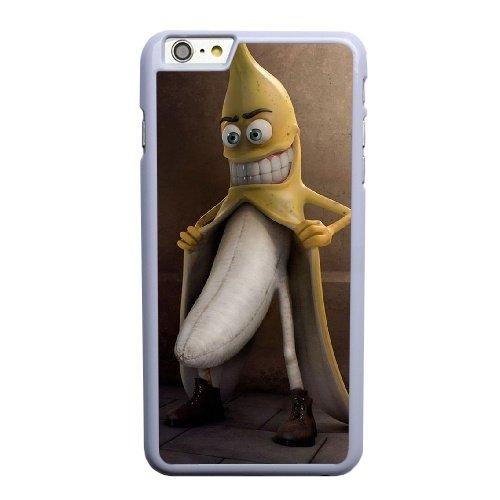 Coque,Apple Coque iphone 6 6S plus (5.5 pouce) Case Coque, Generic Exposed Banana Cover Case Cover for Coque iphone 6 6S plus (5.5 pouce) blanc Hard Plastic Phone Case Cover