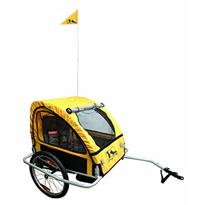 Image of Child Carrier Trailers M-Wave Alloy Children's Trailer with Suspension
