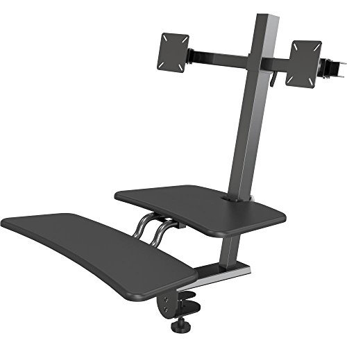 POPUP SIT TO STAND WORKSTATION DOUBLE MONITOR product image