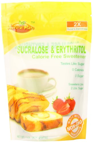 Natural Mate Sweetener, Sucralose and Erythritol, 1 (Natural Zero Calorie Sweetener)