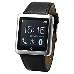 BlueFigner U-SEE Bluetooth&Life-Waterproof U10 Wrist-Watch for Smart phone Apple/Android System Silver