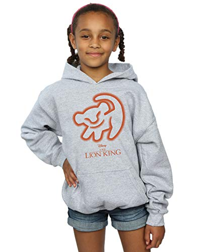 Disney Girls The Lion King Cave Drawing Hoodie Sport Grey 5-6 Years