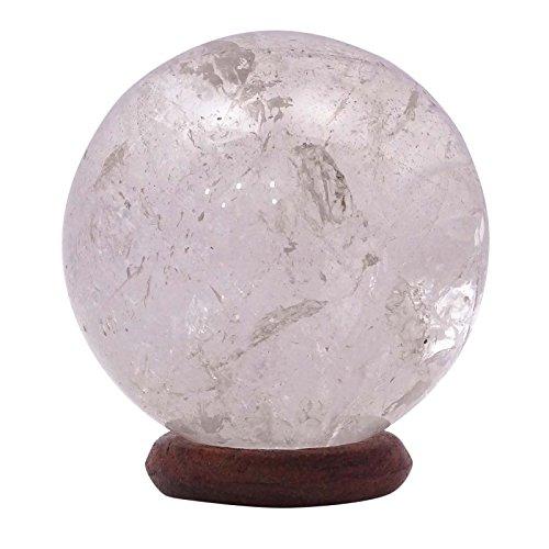 HARMONIZE White Quartz Stone Sphere Ball Reiki Healing Crystal Balancing Spiritual Gift Office Table ()