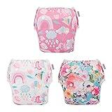 ALVABABY Swim Diapers 3pcs One Size Reusable