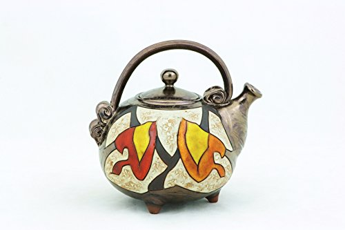 Ceramic handmade teapot, Art pottery teapot, Unique quirky teapot,Stoneware teapot 34 oz, Handmade teapot 1000ml by TriUshi Ceramics