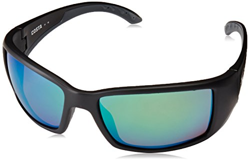 Costa Del Mar Blackfin Sunglasses, Black, Green Mirror 580 Plastic - Frames Costa Only