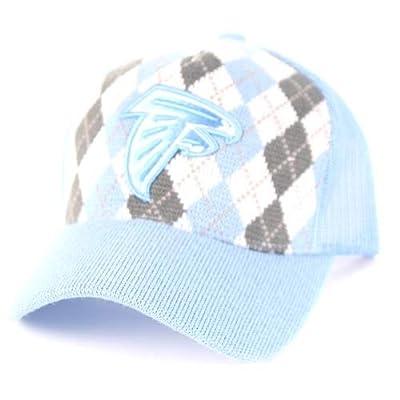 Atlanta Falcons Blue Argyle Adjustable Hat Cap Lid from Fan Apparel