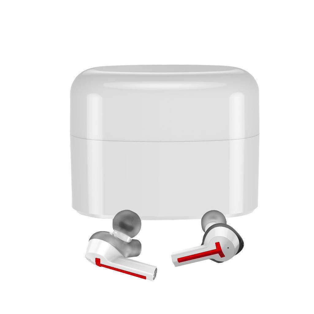 JinJin Mini True Wireless Mini Wireless Bluetooth Earphones Stereo Earbuds Charging Box (red) by Jinjin (Image #1)
