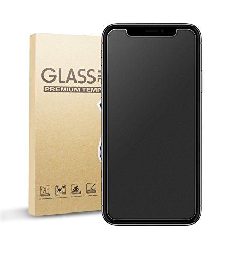 (Eletek iPhone X Matte Screen Protector, Anti-Glare & Anti-Fingerprint Tempered Glass Clear Film Bubble Free Smooth Accurate Touch Ballistic Shield for iPhone X/10 [Case Friendly] [3D Touch])