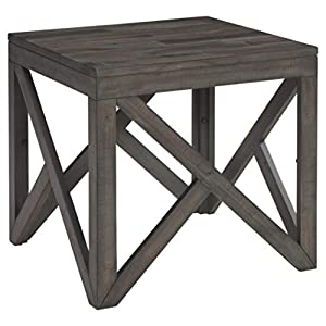 Signature Design by Ashley - Haroflyn Rustic Square End Table, Gray