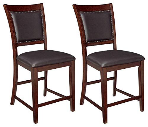 - Ashley Furniture Signature Design - Collenburg Counter Height Bar Stool - Dark Brown
