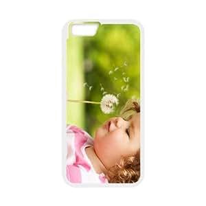 Girl Dandelion iPhone 6 Plus 5.5 Inch Cell Phone Case White Glkck