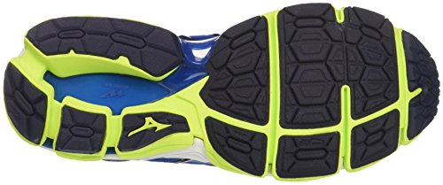 Mizuno Men's Wave Horizon 2 Running Shoes, Blue Blue (Surftheweb/Limepunch/Eclipse 40)
