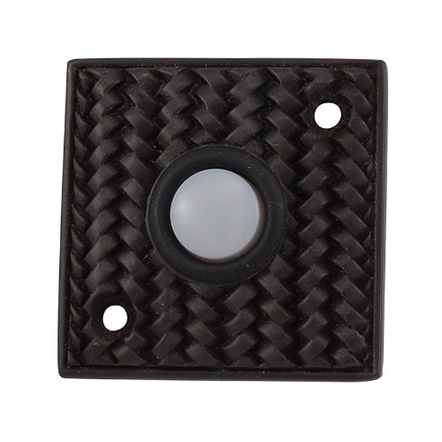 Vicenza Designs D4000 Cestino Square Style Doorbell, Oil-Rubbed Bronze