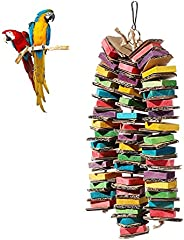 GFNet Parrot Bird Toys, Parrot Chew Toys Cardboard Bird Toys, Parrots, Macaws, Natural Wooden Bird Cage Chew T