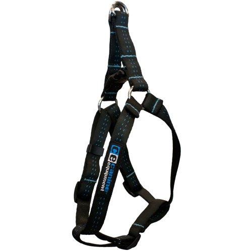 Canine Equipment Technika 1-Inch Step In Dog Harness, Medium 16-24-Inch, Black, My Pet Supplies