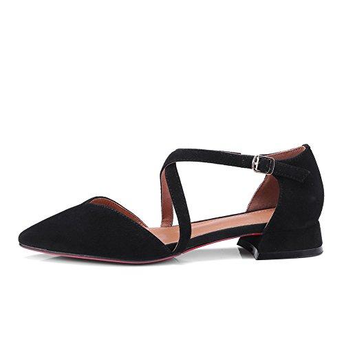 Compensées Noir Sandales 5 36 Femme Noir ASL05082 BalaMasa fCwnpaqq