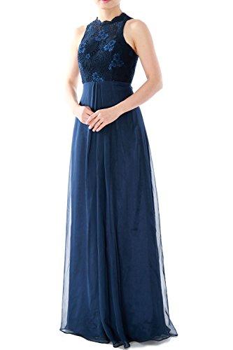 MACloth - Robe - Trapèze - Sans Manche - Femme -  bleu - 46