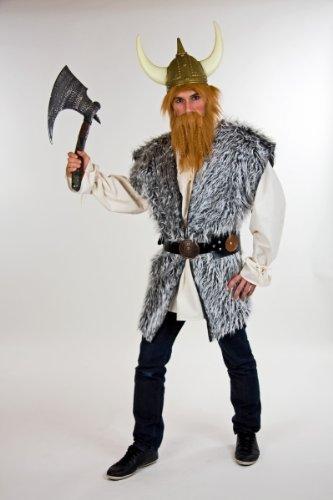 Festartikel Muller Herren Kostum Wikinger Pluschweste Weste Zu