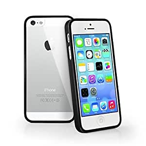 SUMCOM Transparent Design Durable Hard Case for iPhone 5/5S (Assorted Colors) , Purple