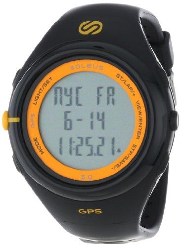 Soleus Men's SG003020 GPS Running Watch with Black Resin Band