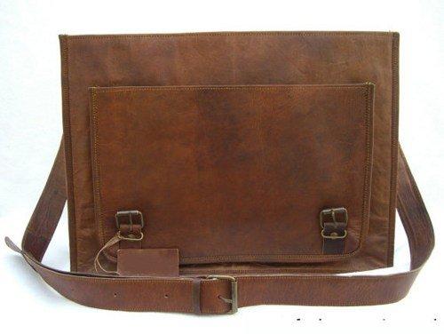 Vintage Crafts auténtica piel de hombres mensajero bolsa de ordenador portátil maletín bolso bandolera para hombre