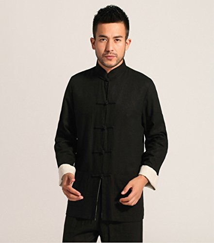 Cotton-flax Tang Suits Double-sided Wear Retro Jackets mens shirts Business Jackets Full Dress by Double-sided Wear Tang Suit (Image #4)