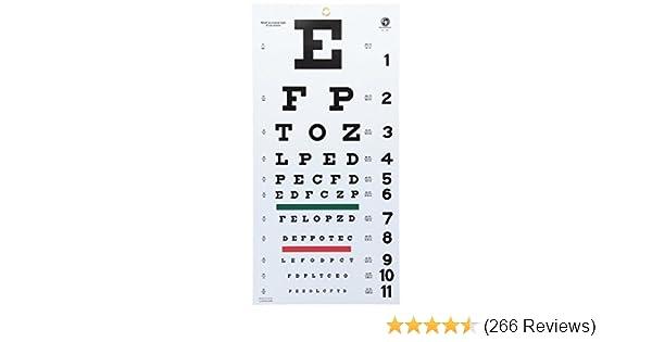 Amazon Grafco 1240 Snellen Hanging Eye Chart 20 Distance Non