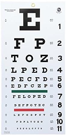 Amazon com grafco 1240 snellen hanging eye chart 20 distance