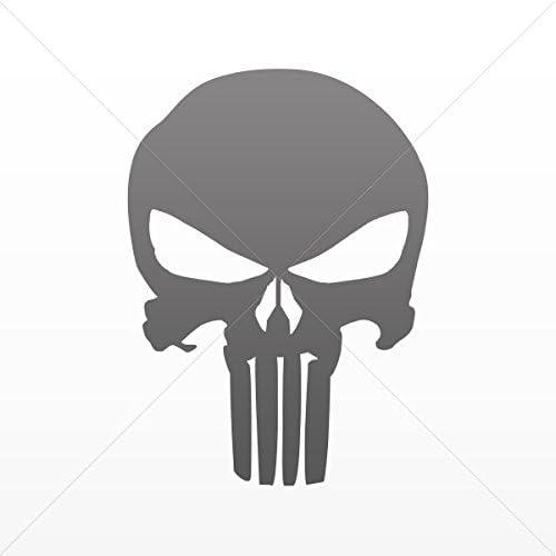 Sticker Decal Punisher Skull Decoration Bike Motorbike Bicyc Red Dark 5 X 3.61 Inches