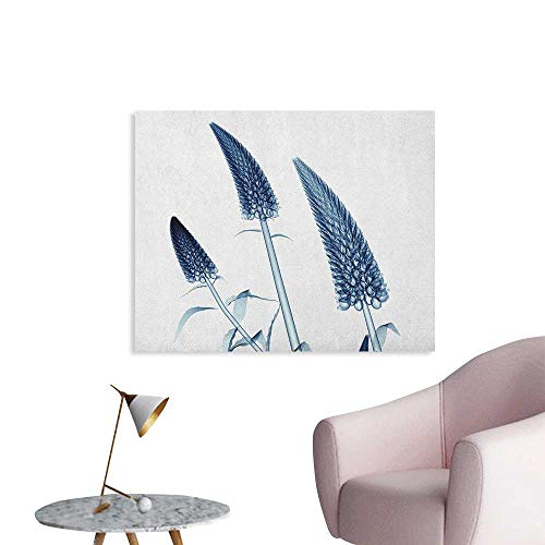 Anzhutwelve Flower Wallpaper Gooseneck Loosestrife Flower X Rays Image Exotic Plants Blooms Artful Home Image The Office Poster Teal White W28 xL20