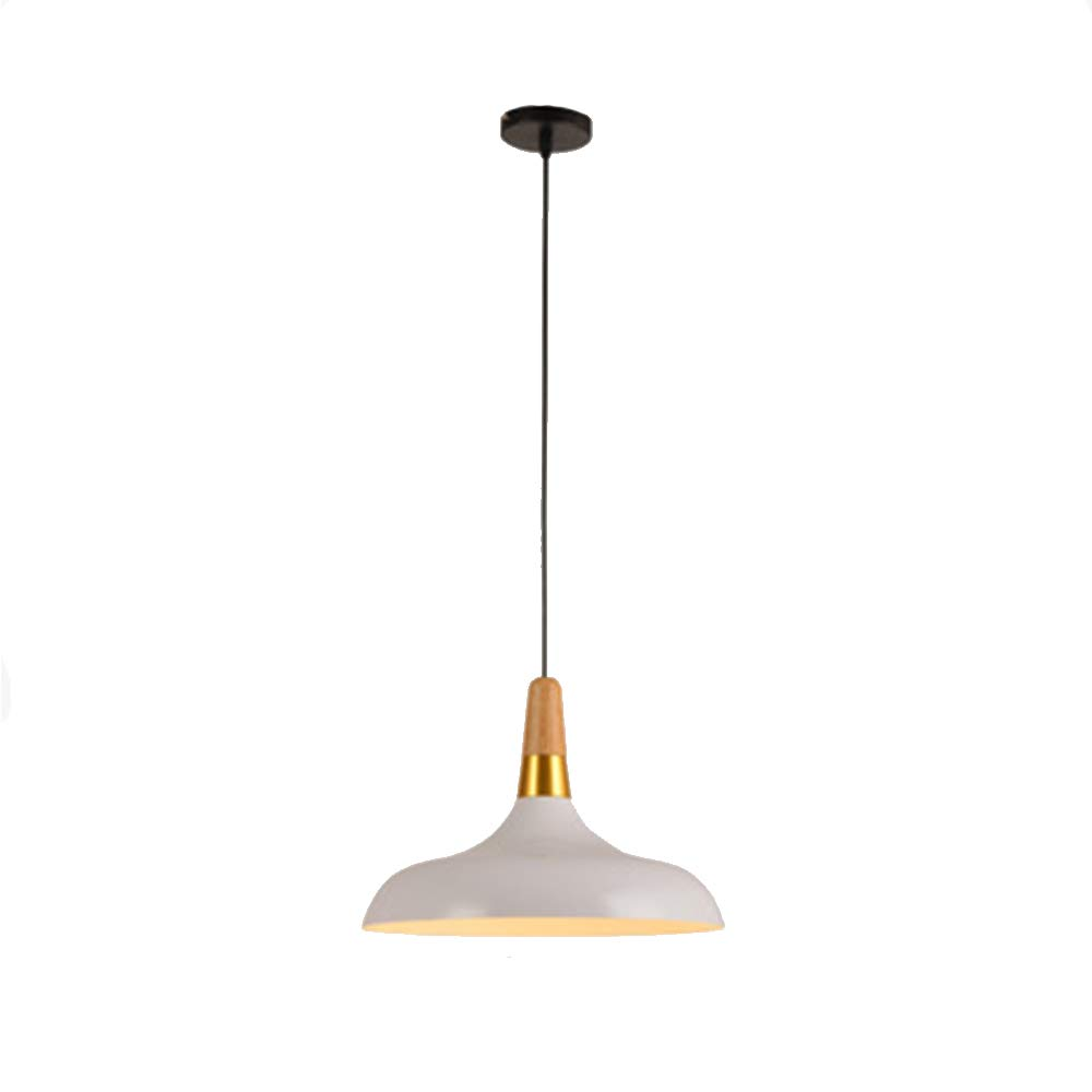 LXQIY E27 Mode Nordischen Stil Kronleuchter Massivholz Kreative Persönlichkeit Hängelampe Schlafzimmer Wohnzimmer Deckenleuchte Weiß Schmiedeeisen Kronleuchter Metall LED Dekorative Lampe