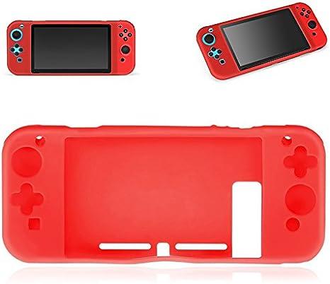 Donkeyphone - Funda DE Silicona Completa ROJA para Nintendo Switch ...